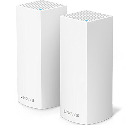 Linksys WHW0302 Velop Mesh Router (Tri-Band Home Mesh Wi-Fi System for Whole-Home Wi-Fi Mesh Network) 2-Pack, White