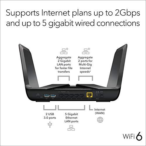 NETGEAR Nighthawk 8-Stream AX8 Wifi 6 Router (RAX80) – AX6000 Wireless Speed (Up to 6 Gbps) | 2,500 sq. ft. Coverage