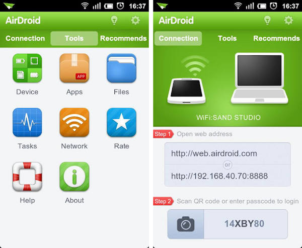 Making Calls and Texts Using AirDroid App