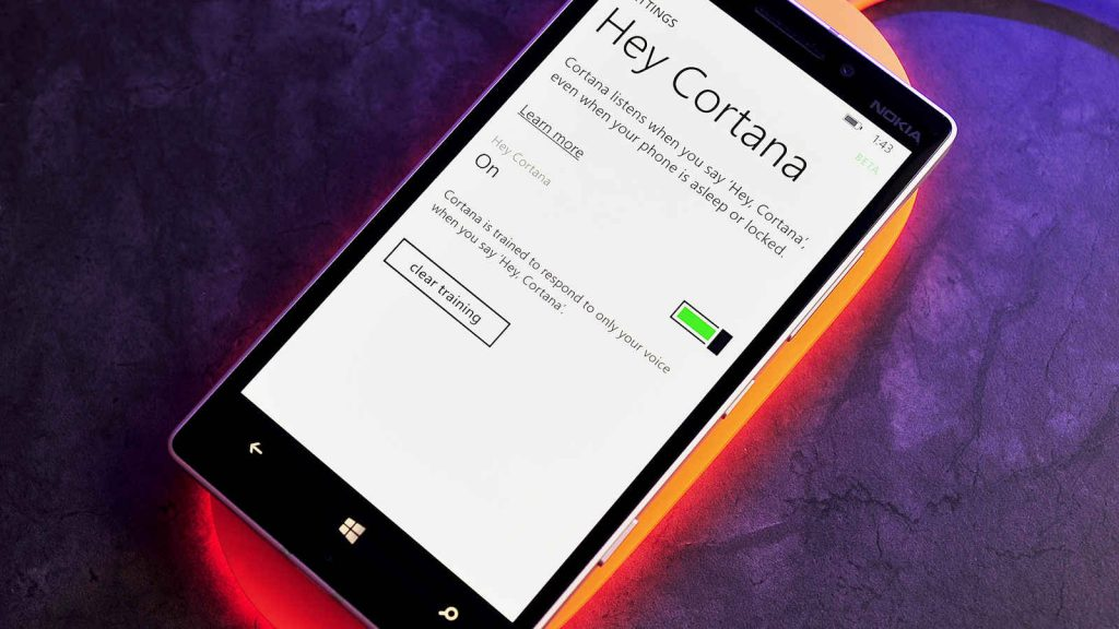 Activating Hey Cortana! in Windows 10