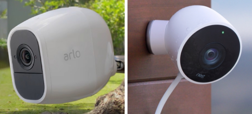 netgear arlo pro 2 vs nest security camera