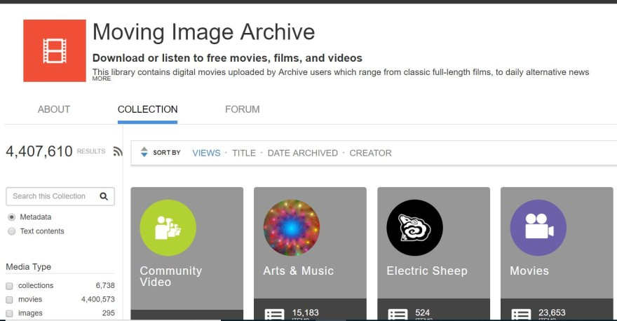 archive public domain movies