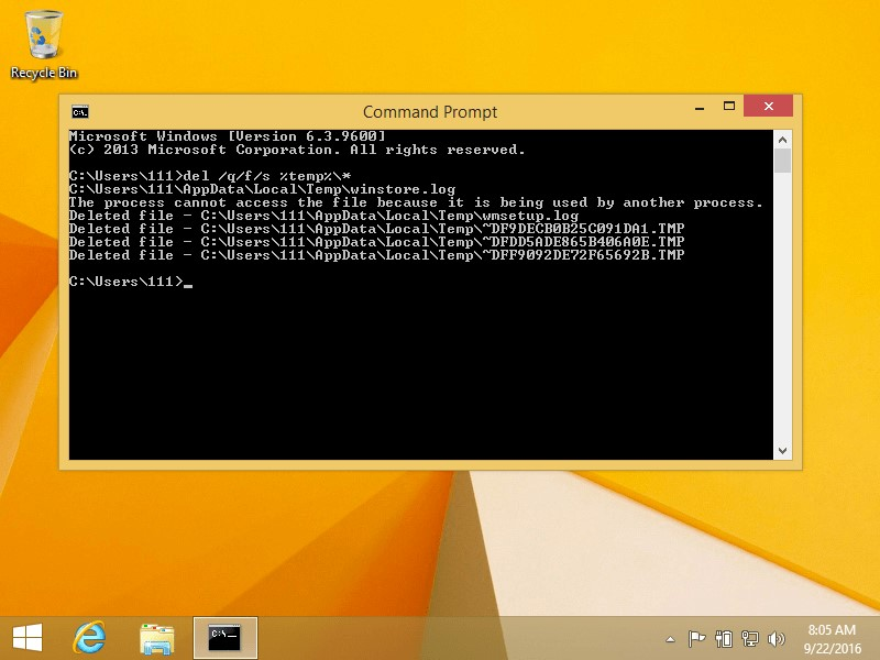 win8 command prompt