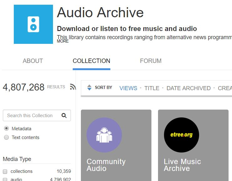 internet audio archive
