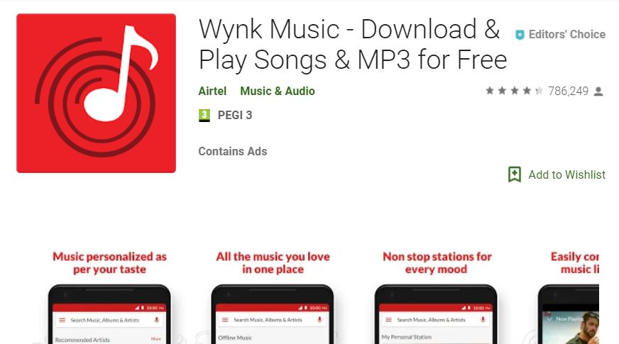 wynk music mobile app