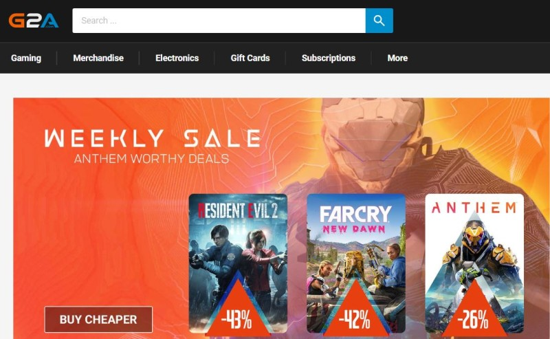 g2a games marketplace