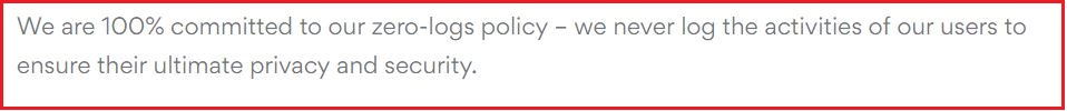 nologs policy