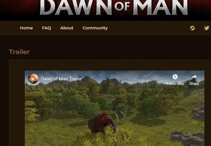 dawn of a man