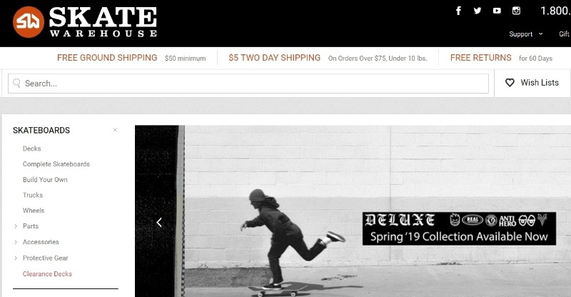 skate warehouse store