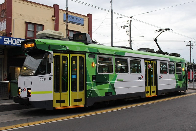 tram with electric engine