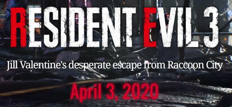 new resident evil 3 remake