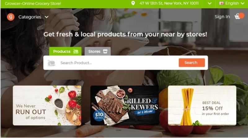 growcer ecommerce