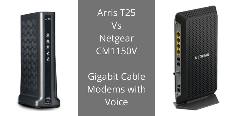 comparison of xfinity voice modems