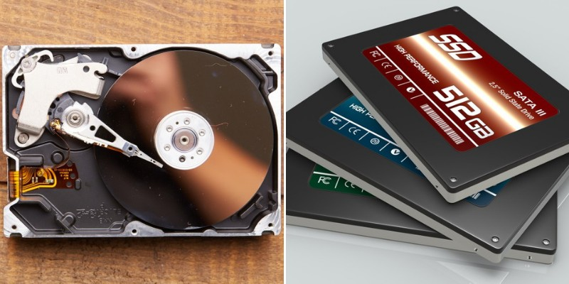 various types of hard disk drives
