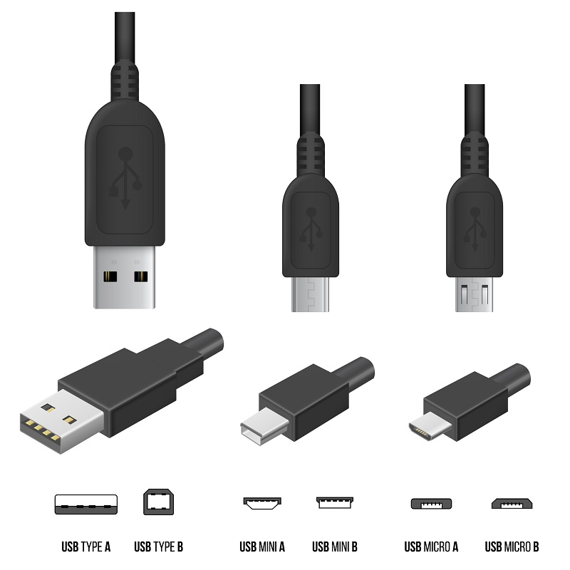 schematic of usb sizes