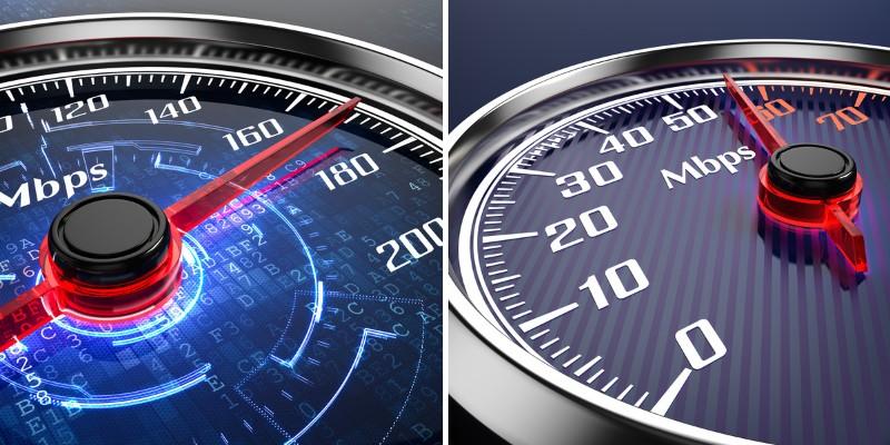 comparison of various internet speed plans