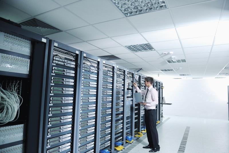 engineer overseeing private cloud servers