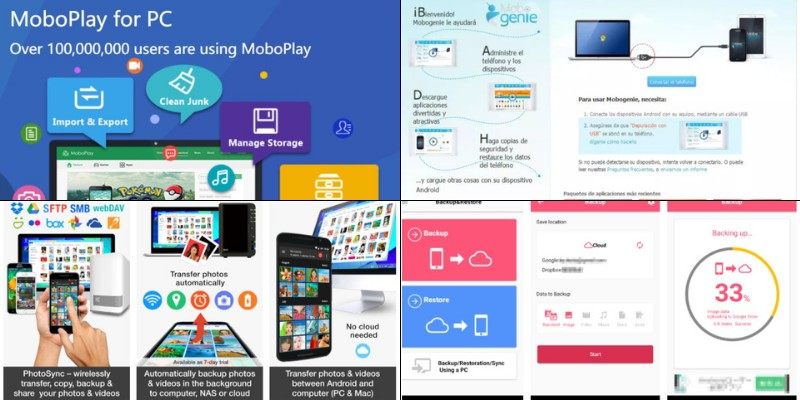 backup software apps for android to pc