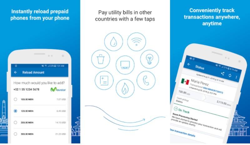 xoom transfer money app